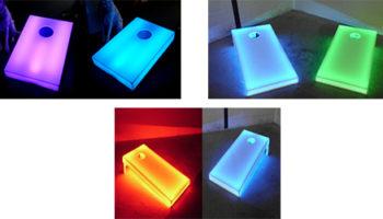 LED Lighted Corn Hole Game Rental
