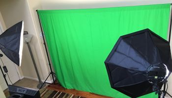 Green Screen Photo Booth Setup