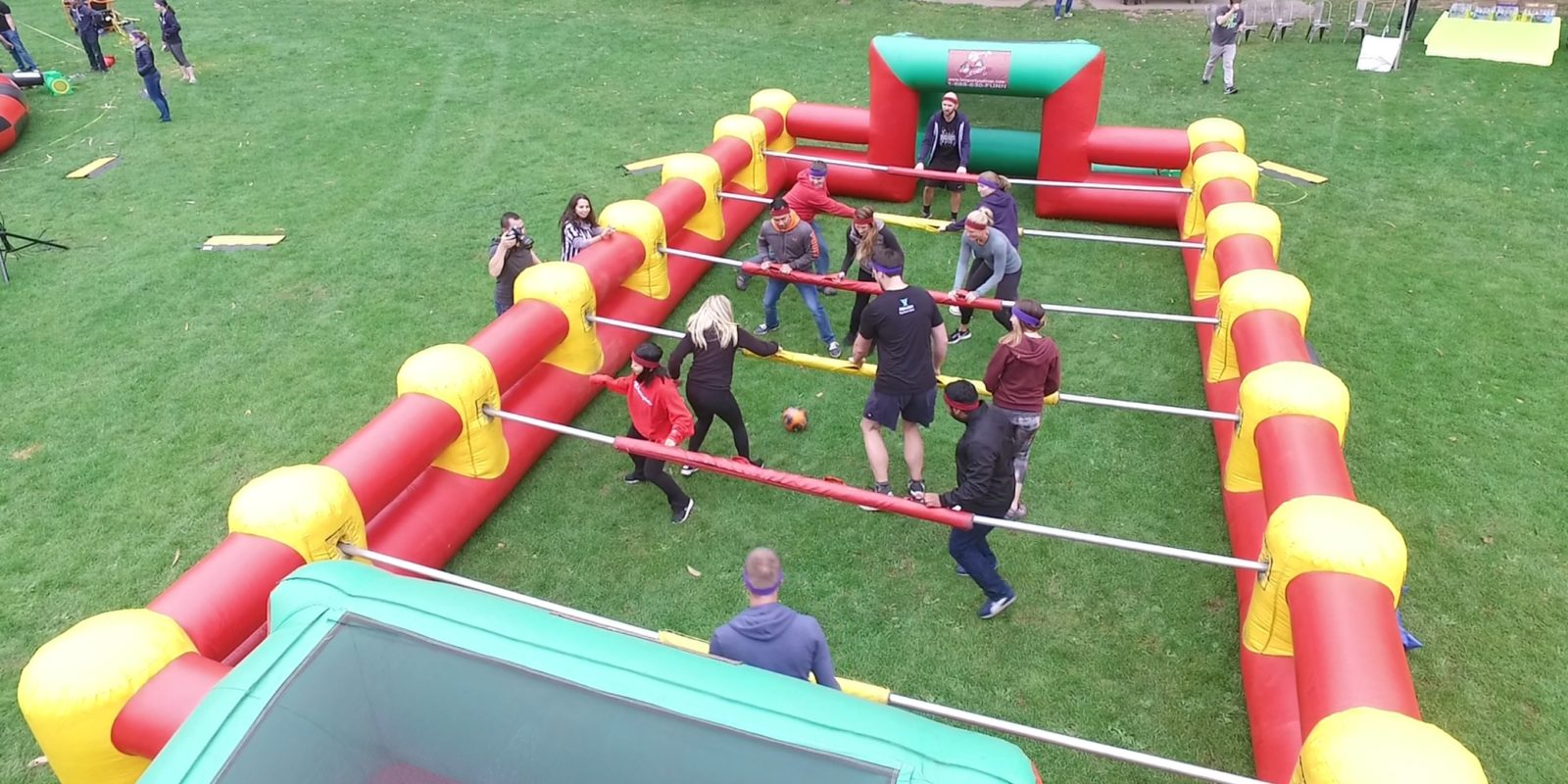 Human Foosball Rental Giant Inflatable Party Rentals