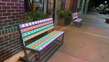 Lighted Park Bench Rentals California